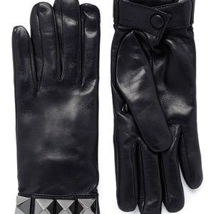 Valentino Black 'rockstud' Short Leather Gloves